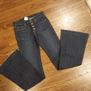 Carmar LF Jordan Flare Raw Hem Jeans Button Fly 25